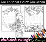 Let It Snow Color Me Cards
