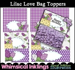 Lilac Love Bag Toppers