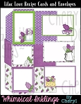 Lilac Love Recipe Cards