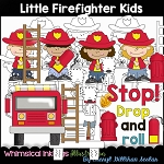 Little Fire Fighters Clipart Collection
