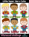 Little Super Hero Cuties Clipart Collection