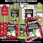 Merry Little Christmas Chalkboard Cards