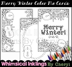Merry Winter Color Me Cards