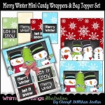 Merry Winter Mini Candy Wrappers and Bag Toppers
