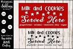 Milk and Cookies Sign SVG