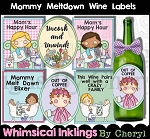 Mommy Meltdown Wine Labels