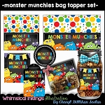 Monster Munchies Bag Toppers