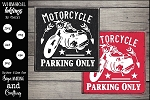 Motorcycle Parking Only SVG