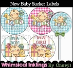 New Baby Sucker Labels