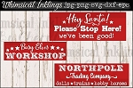 Northpole Trading Company SVG Sign Set