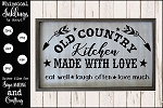 Old Country Kitchen SVG