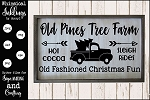 Old Pines Tree farm SVG