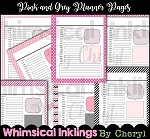 Pink and Grey Daily Planner Pages