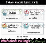 Polkadot Cupcakes Business Cards