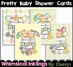 Pretty Baby Shower Cards