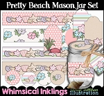 Pretty Beach Mason Jar Set