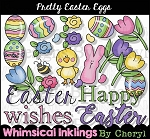 Pretty Easter Eggs Clipart Collection