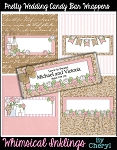 Pretty Wedding Candy Bar Wrappers