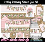 Pretty Wedding Mason Jar Set