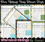 Prim Blessings Daily Planner Pages