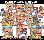 Prim Kitchen Bears Clipart Collection