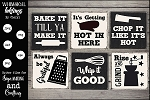 Punny Kitchen Magnets SVG Set