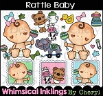 Rattle Baby Clipart Collection