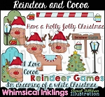 Reindeer and Cocoa Clipart Collection