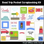 Road Trip Pocket Scrapbooking Set