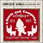 Santa and Company Cookies SVG