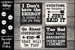 Sarcastic Magnet-Sign SVG set