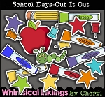 School Days Cut It Out Clipart Collection