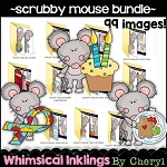 Scruffy Mouse Clipart Bundle