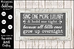Sing One More Lullaby SVG