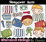 Sleepover Boys Clipart Collection