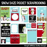 Snow Daze Pocket Scrapbooking Set