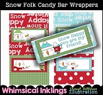 Snow Folk Candy Bar Wrappers