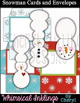 Snowman Cards and Envelopes