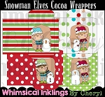 Snowman Elves Cocoa Packets