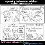 Spooky Halloween Wishes Color Me Cards