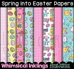 Spring Into Easter Digital Paper