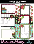Strawberry Fields Recipe Cards and Envelopes