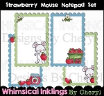Strawberry Mouse Notepad Set