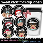 Sweet Christmas Cup Labels