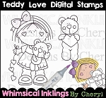 Teddy Love Digital Stamps