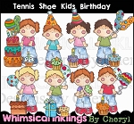 Tennis Shoe Kids Have a Birthday RESELLERS LIMITED SET