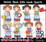 Tennis Shoe Kids Love Sports RESELLERS LIMITED SET