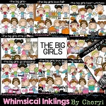 The Big Girls Clipart Bundle