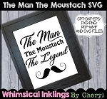 The Man The Moustach SVG