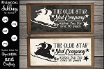 The Olde Star Sled Company Sign SVG